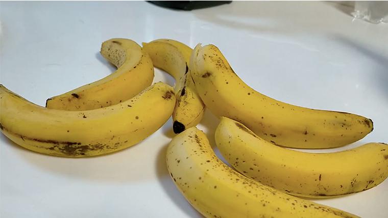 バナナをバラバラに